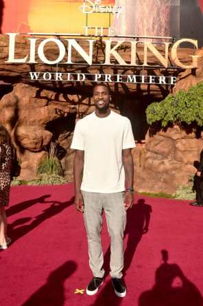 "HOLLYWOOD, CALIFORNIA - JULY 09: Michael Kidd-Gilchrist attends the World Premiere of Disney's ""THE LION KING"" at the Dolby Theatre on July 09, 2019 in Hollywood, California. (Photo by Alberto E. Rodriguez/Getty Images for Disney)"
