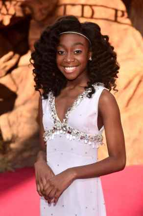 """HOLLYWOOD, CALIFORNIA - JULY 09: Shahadi Wright Joseph attends the World Premiere of Disney's """"THE LION KING"""" at the Dolby Theatre on July 09, 2019 in Hollywood, California. (Photo by Alberto E. Rodriguez/Getty Images for Disney)"""