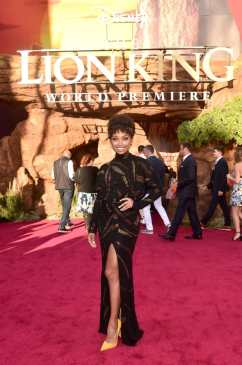 "HOLLYWOOD, CALIFORNIA - JULY 09: Logan Browning attends the World Premiere of Disney's ""THE LION KING"" at the Dolby Theatre on July 09, 2019 in Hollywood, California. (Photo by Alberto E. Rodriguez/Getty Images for Disney)"