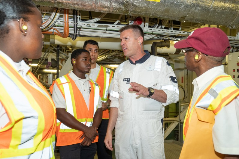 Disney-Hosts-Bahamas-Maritime-Cadet-Corps-Onboard_Engine-Room