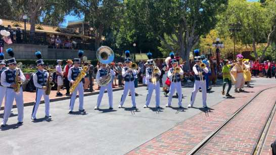 First Performance- Mickey and Friends Band-Tastic Cavalcade at Disneyland-23