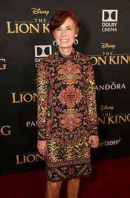 "HOLLYWOOD, CALIFORNIA - JULY 09: Linda Woolverton attends the World Premiere of Disney's ""THE LION KING"" at the Dolby Theatre on July 09, 2019 in Hollywood, California. (Photo by Jesse Grant/Getty Images for Disney)"