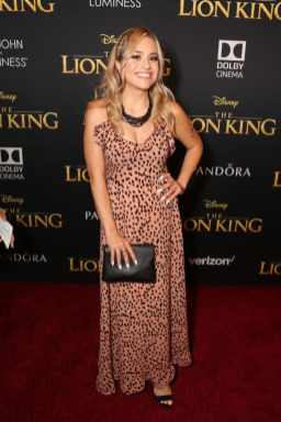 "HOLLYWOOD, CALIFORNIA - JULY 09: Brigitte Valadez attends the World Premiere of Disney's ""THE LION KING"" at the Dolby Theatre on July 09, 2019 in Hollywood, California. (Photo by Jesse Grant/Getty Images for Disney)"