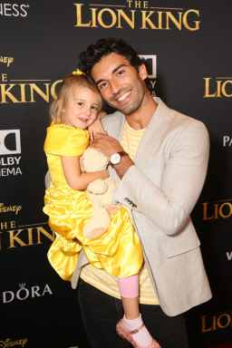 "HOLLYWOOD, CALIFORNIA - JULY 09: Maiya Grace Baldoni (L) and Justin Baldoni attend the World Premiere of Disney's ""THE LION KING"" at the Dolby Theatre on July 09, 2019 in Hollywood, California. (Photo by Jesse Grant/Getty Images for Disney)"