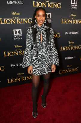 "HOLLYWOOD, CALIFORNIA - JULY 09: Kelly Rowland attends the World Premiere of Disney's ""THE LION KING"" at the Dolby Theatre on July 09, 2019 in Hollywood, California. (Photo by Jesse Grant/Getty Images for Disney)"