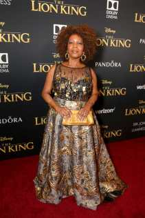 "HOLLYWOOD, CALIFORNIA - JULY 09: Alfre Woodard attends the World Premiere of Disney's ""THE LION KING"" at the Dolby Theatre on July 09, 2019 in Hollywood, California. (Photo by Jesse Grant/Getty Images for Disney)"