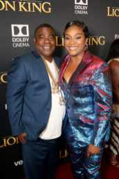 "HOLLYWOOD, CALIFORNIA - JULY 09: Tracy Morgan and Tiffany Haddish attend the World Premiere of Disney's ""THE LION KING"" at the Dolby Theatre on July 09, 2019 in Hollywood, California. (Photo by Jesse Grant/Getty Images for Disney)"
