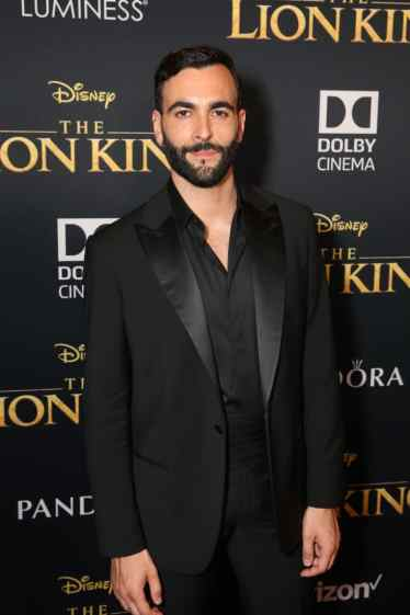 "HOLLYWOOD, CALIFORNIA - JULY 09: Marco Mengoni attends the World Premiere of Disney's ""THE LION KING"" at the Dolby Theatre on July 09, 2019 in Hollywood, California. (Photo by Jesse Grant/Getty Images for Disney)"