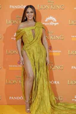 Beyonce Knowles-Carter attends the European Premiere of DisneyÕs ÒThe Lion KingÓ at the Odeon Leicester Square on 14th July 2019 in London, UK