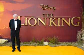 Sir Tim Rice attends the European Premiere of DisneyÕs ÒThe Lion KingÓ at the Odeon Leicester Square on 14th July 2019 in London, UK