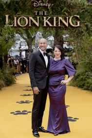 Keegan-Michael Key and Elisa Pugliese attend the European Premiere of DisneyÕs ÒThe Lion KingÓ at the Odeon Leicester Square on 14th July 2019 in London, UK