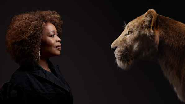 THE LION KING - (L-R) Alfre Woodard and Sarabi. Photo by Kwaku Alston. © 2019 Disney Enterprises, Inc. All Rights Reserved.