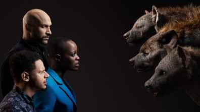 THE LION KING - (Top to Bottom) Keegan-Michael Key and Kamari, Florence Kasumba and Shenzi and Eric André and Azizi. Photo by Kwaku Alston. © 2019 Disney Enterprises, Inc. All Rights Reserved.