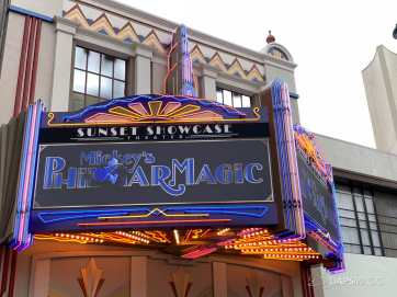 Mickeys PhilharMagic Entrance Sunset Showcase Theater-2