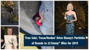 'Free Solo', 'Fosse/Verdon' Drive Disney's Portfolio of Brands to 22 Emmy® Wins for 2019