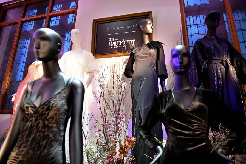 NEW YORK, NEW YORK - OCTOBER 16: A view of mannequins during the Olivia von Halle x Disney Maleficent: Mistress of Evil event at The High Line Hotel on October 16, 2019 in New York City. (Photo by Craig Barritt/Getty Images for Disney)