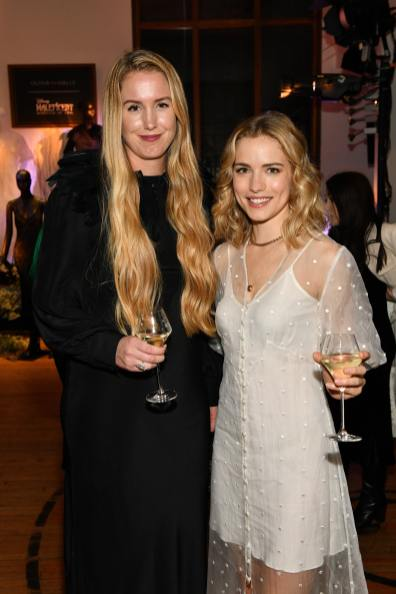 NEW YORK, NEW YORK - OCTOBER 16: (L-R) Designer Olivia von Halle and Willa Fitzgerald, wearing Olivia von Halle, attend the Olivia von Halle x Disney Maleficent: Mistress of Evil event at The High Line Hotel on October 16, 2019 in New York City. (Photo by Craig Barritt/Getty Images for Disney)