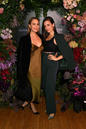 NEW YORK, NEW YORK - OCTOBER 16: (L-R) Arielle Kebbel, wearing Olivia von Halle, and Torrey DeVitto attend the Olivia von Halle x Disney Maleficent: Mistress of Evil event at The High Line Hotel on October 16, 2019 in New York City. (Photo by Craig Barritt/Getty Images for Disney)