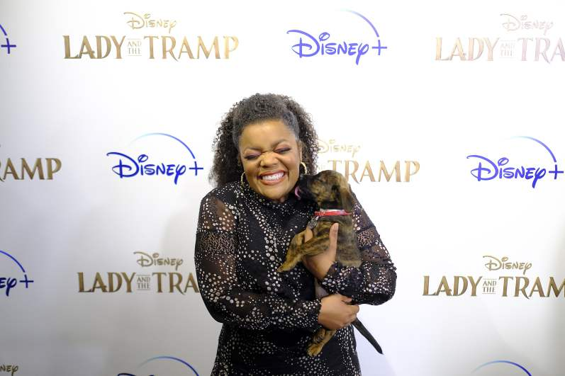 "NEW YORK, NEW YORK - OCTOBER 22: Yvette Nicole Brown attends as Cinema Society hosts a special screening of Disney+'s ""Lady And The Tramp"" at iPic Theater on October 22, 2019 in New York City. (Photo by Dimitrios Kambouris/Getty Images for Disney+)"
