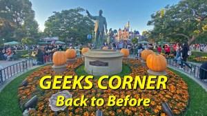 GEEKS CORNER - Back to Before