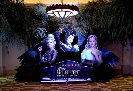 """BEVERLY HILLS, CALIFORNIA - SEPTEMBER 30: A view of the atmosphere at the global press conference for """"Disney's Maleficent: Mistress of Evil"""" on September 30, 2019 in Beverly Hills, California. (Photo by Alberto E. Rodriguez/Getty Images for Disney)"""