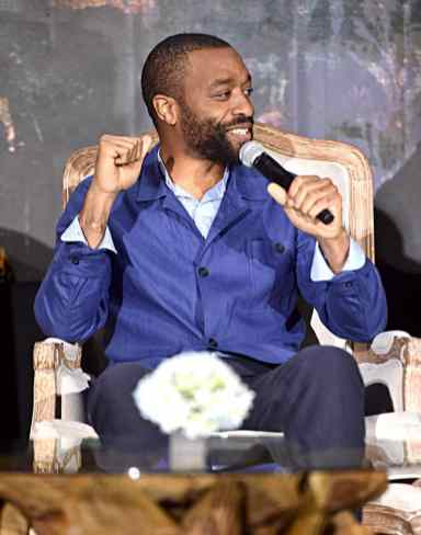 """BEVERLY HILLS, CALIFORNIA - SEPTEMBER 30: Actor Chiwetel Ejiofor participates in the global press conference for """"Disney's Maleficent: Mistress of Evil"""" on September 30, 2019 in Beverly Hills, California. (Photo by Alberto E. Rodriguez/Getty Images for Disney)"""