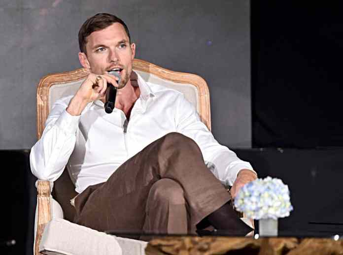 """BEVERLY HILLS, CALIFORNIA - SEPTEMBER 30: Actor Ed Skrein participates in the global press conference for """"Disney's Maleficent: Mistress of Evil"""" on September 30, 2019 in Beverly Hills, California. (Photo by Alberto E. Rodriguez/Getty Images for Disney)"""
