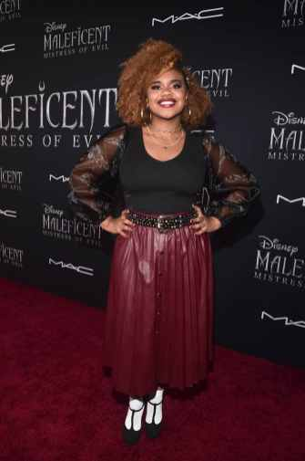 """HOLLYWOOD, CALIFORNIA - SEPTEMBER 30: Dara Reneé attends the World Premiere of Disney's """"Maleficent: Mistress of Evil"""" at the El Capitan Theatre on September 30, 2019 in Hollywood, California. (Photo by Alberto E. Rodriguez/Getty Images for Disney)"""