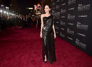 "HOLLYWOOD, CALIFORNIA - SEPTEMBER 30: Actor Angelina Jolie attends the World Premiere of Disney's ""Maleficent: Mistress of Evil"" at the El Capitan Theatre on September 30, 2019 in Hollywood, California. (Photo by Alberto E. Rodriguez/Getty Images for Disney)"