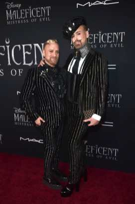 """HOLLYWOOD, CALIFORNIA - SEPTEMBER 30: Gregory Arlt and Jon Lieckfelt attend the World Premiere of Disney's """"Maleficent: Mistress of Evil"""" at the El Capitan Theatre on September 30, 2019 in Hollywood, California. (Photo by Alberto E. Rodriguez/Getty Images for Disney)"""
