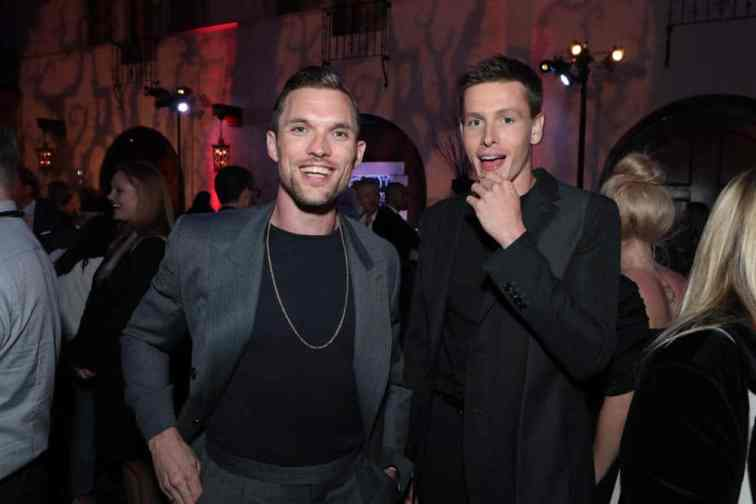 """Ed Skrein and Harris Dickinson attend the World Premiere of Disney's """"Maleficent: Mistress of Evil"""" after party at The Hollywood Roosevelt in Hollywood, CA on September 30, 2019 (photo: Alex J. Berliner/ABImages)"""