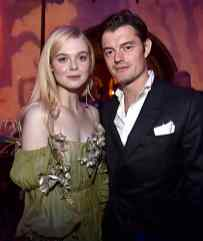 """HOLLYWOOD, CALIFORNIA - SEPTEMBER 30: Actors Elle Fanning and Sam Riley attend the World Premiere of Disney's """"Maleficent: Mistress of Evil"""" at the El Capitan Theatre on September 30, 2019 in Hollywood, California. (Photo by Alberto E. Rodriguez/Getty Images for Disney)"""