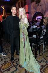 """Harris Dickinson and Elle Fanning attend the World Premiere of Disney's """"Maleficent: Mistress of Evil"""" after party at The Hollywood Roosevelt in Hollywood, CA on September 30, 2019 .(photo: Alex J. Berliner/ABImages)"""