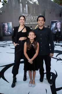 """Rachel Metz, Heaven Rodriguez and Paul Rodriguez attend the World Premiere of Disney's """"Maleficent: Mistress of Evil"""" at the El Capitan Theatre in Hollywood, CA on September 30, 2019 .(photo: Alex J. Berliner/ABImages)"""