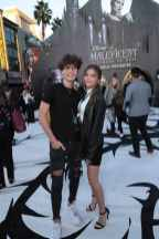 """Jaden Hossler and Madison Lewis attend the World Premiere of Disney's """"Maleficent: Mistress of Evil"""" at the El Capitan Theatre in Hollywood, CA on September 30, 2019 (photo: Alex J. Berliner/ABImages)"""