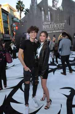 "Jaden Hossler and Madison Lewis attend the World Premiere of Disney's ""Maleficent: Mistress of Evil"" at the El Capitan Theatre in Hollywood, CA on September 30, 2019 (photo: Alex J. Berliner/ABImages)"