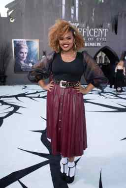 """Dara Renee attends the World Premiere of Disney's """"Maleficent: Mistress of Evil"""" at the El Capitan Theatre in Hollywood, CA on September 30, 2019 .(photo: Alex J. Berliner/ABImages)"""