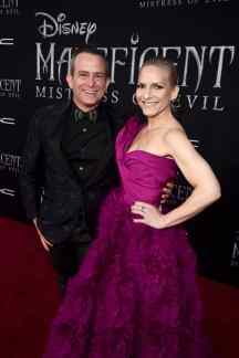 """HOLLYWOOD, CALIFORNIA - SEPTEMBER 30: (L-R) Composer Geoff Zanelli and Jen Jardine attend the World Premiere of Disney's """"Maleficent: Mistress of Evil"""" at the El Capitan Theatre on September 30, 2019 in Hollywood, California. (Photo by Alberto E. Rodriguez/Getty Images for Disney)"""
