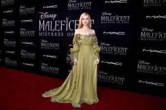 "HOLLYWOOD, CALIFORNIA - SEPTEMBER 30: Actor Elle Fanning attends the World Premiere of Disney's ""Maleficent: Mistress of Evil"" at the El Capitan Theatre on September 30, 2019 in Hollywood, California. (Photo by Alberto E. Rodriguez/Getty Images for Disney)"