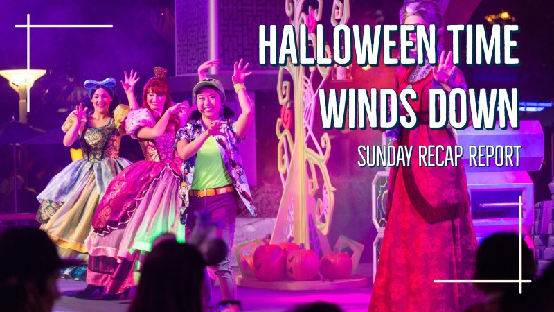 Sunday Recap Report - Halloween Time Winds Down
