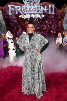 "HOLLYWOOD, CALIFORNIA - NOVEMBER 07: Yvette Nicole Brown attends the world premiere of Disney's ""Frozen 2"" at Hollywood's Dolby Theatre on Thursday, November 7, 2019 in Hollywood, California. (Photo by Alberto E. Rodriguez/Getty Images for Disney)"