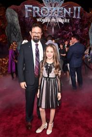 """HOLLYWOOD, CALIFORNIA - NOVEMBER 07: (L-R) Darrin Butters and Julia Butters attend the world premiere of Disney's """"Frozen 2"""" at Hollywood's Dolby Theatre on Thursday, November 7, 2019 in Hollywood, California. (Photo by Alberto E. Rodriguez/Getty Images for Disney)"""