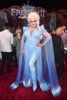 "HOLLYWOOD, CALIFORNIA - NOVEMBER 07: Nina West attends the world premiere of Disney's ""Frozen 2"" at Hollywood's Dolby Theatre on Thursday, November 7, 2019 in Hollywood, California. (Photo by Alberto E. Rodriguez/Getty Images for Disney)"