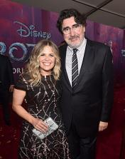 "HOLLYWOOD, CALIFORNIA - NOVEMBER 07: (L-R) Director/writer/Walt Disney Animation Studios CCO Jennifer Lee and Actor Alfred Molina attends the world premiere of Disney's ""Frozen 2"" at Hollywood's Dolby Theatre on Thursday, November 7, 2019 in Hollywood, California. (Photo by Alberto E. Rodriguez/Getty Images for Disney)"