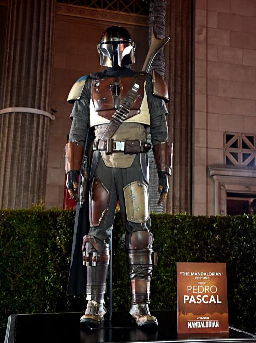"HOLLYWOOD, CALIFORNIA - NOVEMBER 13: A view of the atmosphere at the premiere of Lucasfilm's first-ever, live-action series, ""The Mandalorian,"" at the El Capitan Theatre in Hollywood, Calif. on November 13, 2019. ""The Mandalorian"" streams exclusively on Disney+. (Photo by Alberto E. Rodriguez/Getty Images for Disney)"