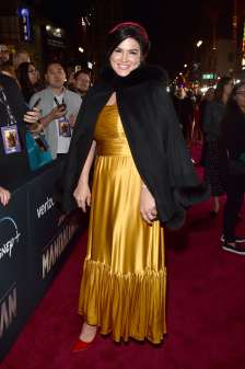 "HOLLYWOOD, CALIFORNIA - NOVEMBER 13: Gina Carano arrives at the premiere of Lucasfilm's first-ever, live-action series, ""The Mandalorian,"" at the El Capitan Theatre in Hollywood, Calif. on November 13, 2019. ""The Mandalorian"" streams exclusively on Disney+. (Photo by Alberto E. Rodriguez/Getty Images for Disney)"