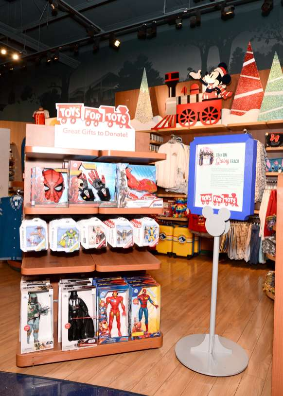 GLENDALE, CALIFORNIA - OCTOBER 28: Disney merchandise on display as Mandy Moore kicks off shopDisney.com| Disney store's Holiday campaign at Glendale Galleria Disney store. Starting today, November 2 through December 15, for every new, unwrapped toy donated at a Disney store in the U.S. or online through shopDisney.com, Disney will donate $1 to Toys for Tots (toysfortots.org). (Photo by Andrew Toth/Getty Images for Disney)