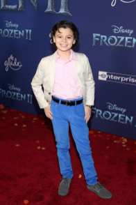 """HOLLYWOOD, CALIFORNIA - NOVEMBER 07: Raphael Alejandro attends the world premiere of Disney's """"Frozen 2"""" at Hollywood's Dolby Theatre on Thursday, November 7, 2019 in Hollywood, California. (Photo by Jesse Grant/Getty Images for Disney)"""