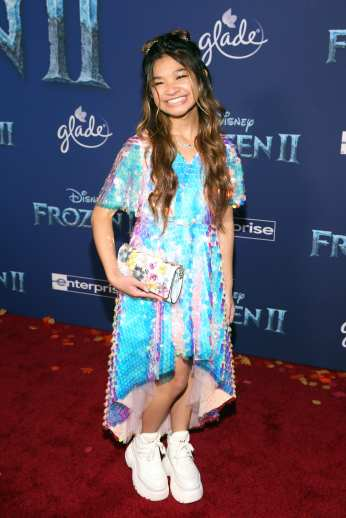 "HOLLYWOOD, CALIFORNIA - NOVEMBER 07: Angelica Hale attends the world premiere of Disney's ""Frozen 2"" at Hollywood's Dolby Theatre on Thursday, November 7, 2019 in Hollywood, California. (Photo by Jesse Grant/Getty Images for Disney)"