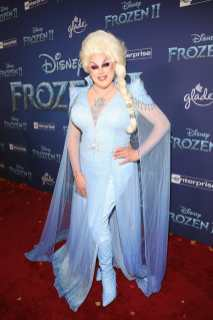 "HOLLYWOOD, CALIFORNIA - NOVEMBER 07: Nina West attends the world premiere of Disney's ""Frozen 2"" at Hollywood's Dolby Theatre on Thursday, November 7, 2019 in Hollywood, California. (Photo by Jesse Grant/Getty Images for Disney)"